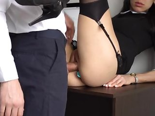 Ass Fucking Internal Exclamation For Gorgeous Super-Bitch Assistant, Chief Smashed Her Cock-Squeezing Cooter With the addition of Culo!