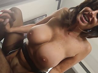 Mature gal deals master's huge black cock beside rough modes